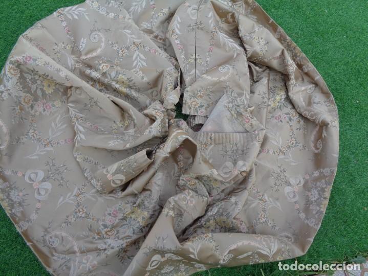 Antigüedades: Tela brocada vestimenta fallera- Traje regional valenciano - para hacer una falda - Foto 13 - 137668526