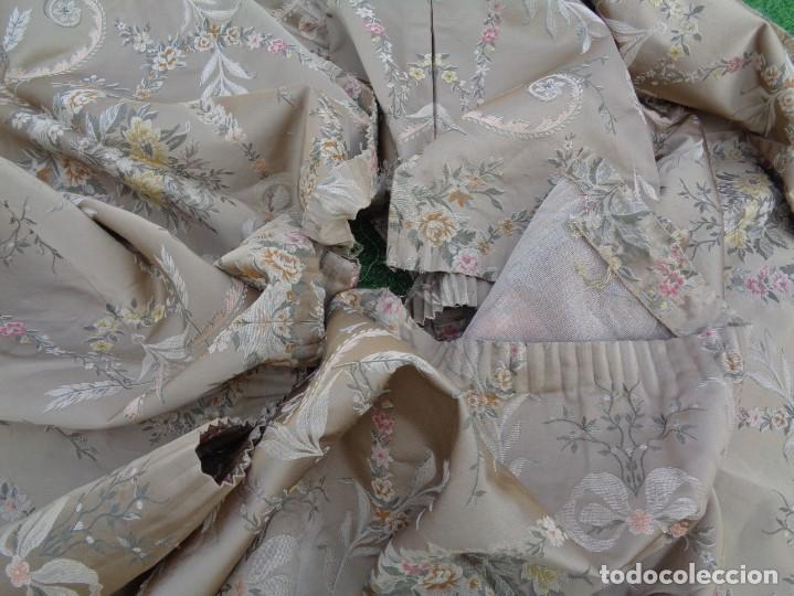 Antigüedades: Tela brocada vestimenta fallera- Traje regional valenciano - para hacer una falda - Foto 14 - 137668526