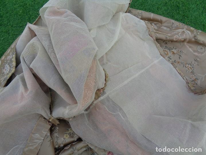 Antigüedades: Tela brocada vestimenta fallera- Traje regional valenciano - para hacer una falda - Foto 15 - 137668526