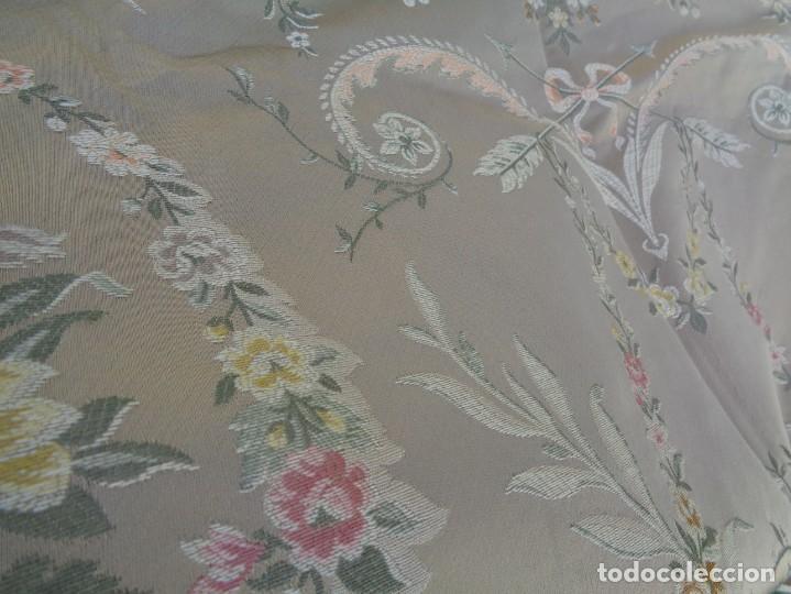 Antigüedades: Tela brocada vestimenta fallera- Traje regional valenciano - para hacer una falda - Foto 19 - 137668526