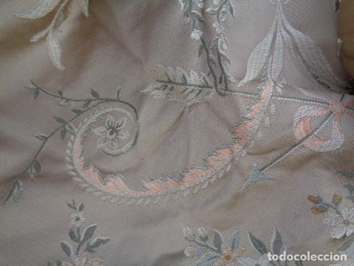 Antigüedades: Tela brocada vestimenta fallera- Traje regional valenciano - para hacer una falda - Foto 20 - 137668526