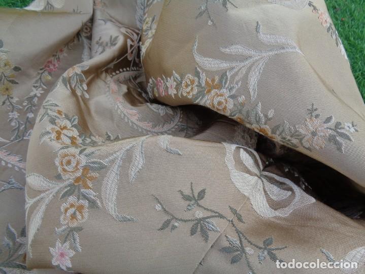Antigüedades: Tela brocada vestimenta fallera- Traje regional valenciano - para hacer una falda - Foto 21 - 137668526