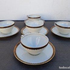 Antigüedades: JUEGO DE 5 TAZAS PORCELANA FINA SELLADO BAVARIA. Lote 137713438