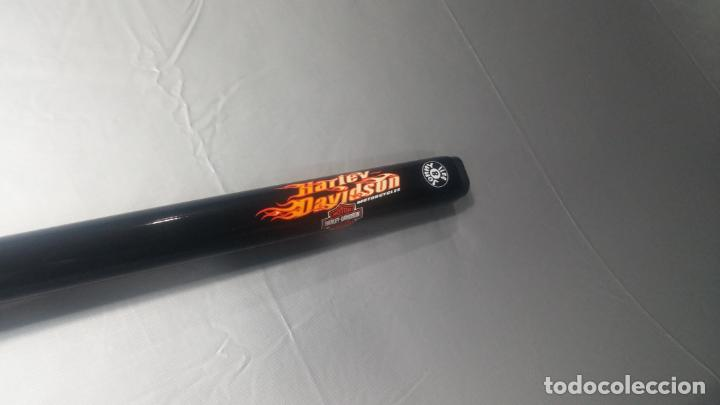 Antigüedades: Taco o palo Harley Davidson de billar y snooker de grafito negro de Jonny 8 Ball - Foto 12 - 137725426