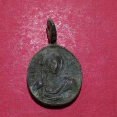 Antigüedades: RARA MEDALLA DE SAN JUDAS TADEO Y NTRA SRA DE LA CONSOLACIÓN. S XVII. 2,4 X 1,5CM.. Lote 137742876