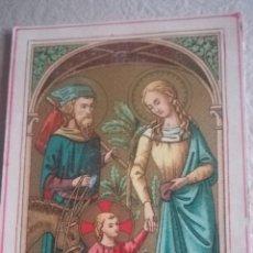 Antigüedades: ANTIGUA CROMO LITOGRAFÍADA, SAGRADA FAMILIA. Lote 137745008