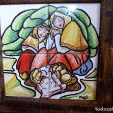 Antigüedades: AZULEJOS FIRMADOS GARIN. Lote 137753614