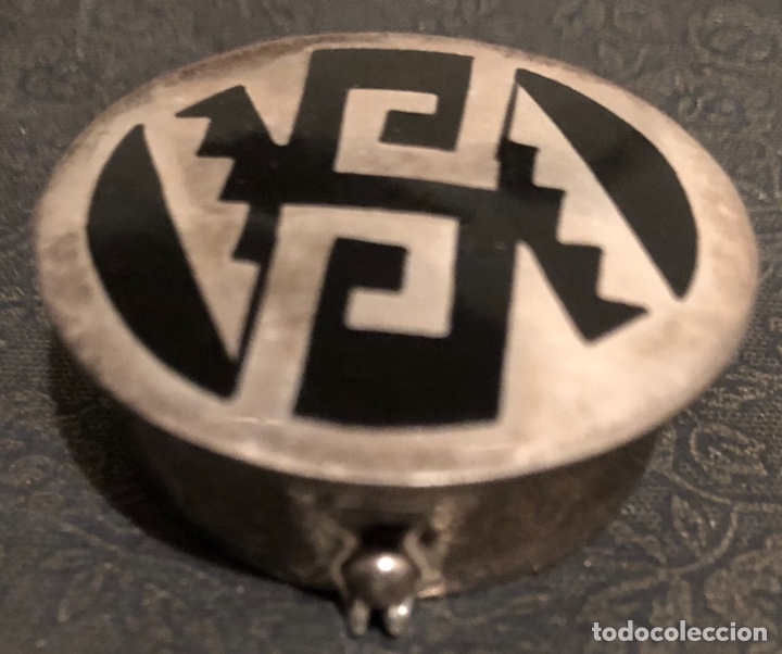 Antigüedades: Bonita cajita-pastillero, en plata 925. México - Foto 2 - 137762809