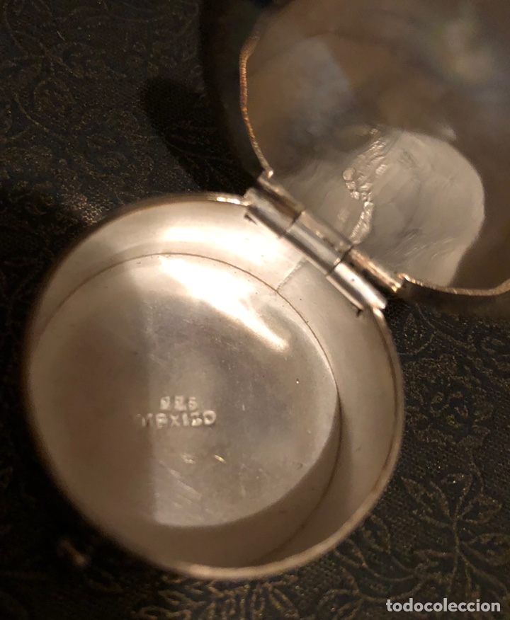 Antigüedades: Bonita cajita-pastillero, en plata 925. México - Foto 4 - 137762809