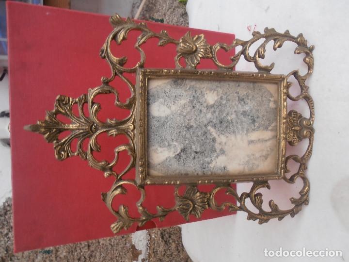 Antigüedades: MARCO PORTAFOTOS DE BRONCE - Foto 2 - 137765836