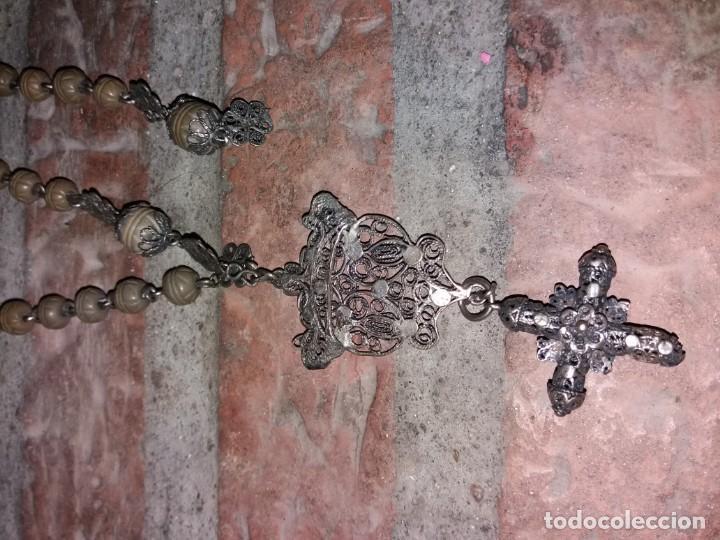 Antigüedades: rosario de filigrana - Foto 4 - 137766974