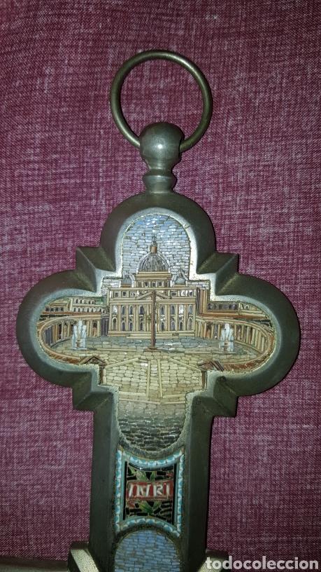 Antigüedades: GRAN CRUZ CON VISTAS DE MICROMOSAICOS - Foto 2 - 137767368