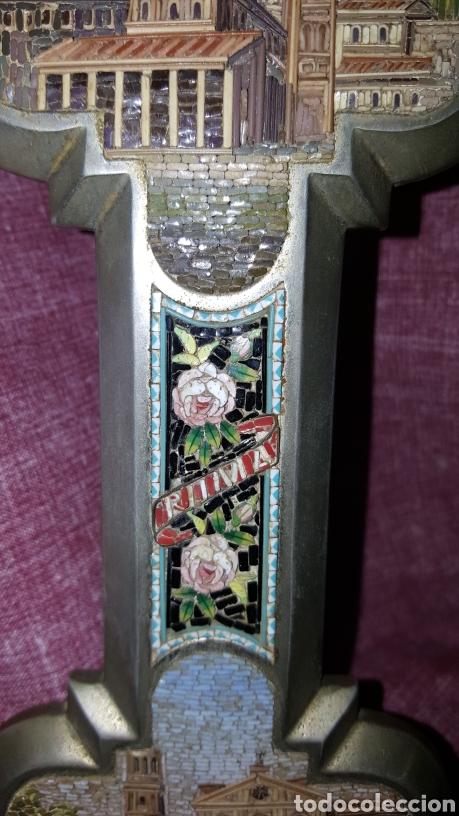 Antigüedades: GRAN CRUZ CON VISTAS DE MICROMOSAICOS - Foto 12 - 137767368