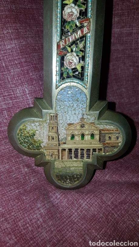 Antigüedades: GRAN CRUZ CON VISTAS DE MICROMOSAICOS - Foto 13 - 137767368