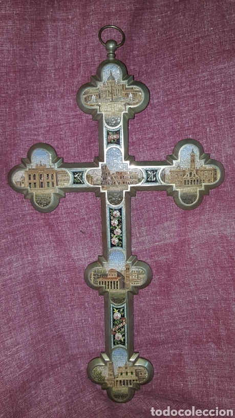 Antigüedades: GRAN CRUZ CON VISTAS DE MICROMOSAICOS - Foto 17 - 137767368
