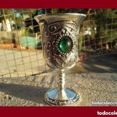 Antigüedades: PRECIOSO CALIZ DE PLATA TIBETANA EN EXCELENTE ESTADO DE CONSERVACION.. Lote 137772680
