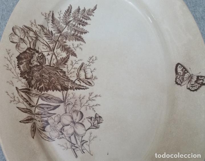 Antigüedades: PRECIOSA Y ANTIGUA FUENTE/BANDEJA DE SANDEMAN DE SAN JUAN DE AZNALFARACHE S.XIX - Foto 2 - 137811222