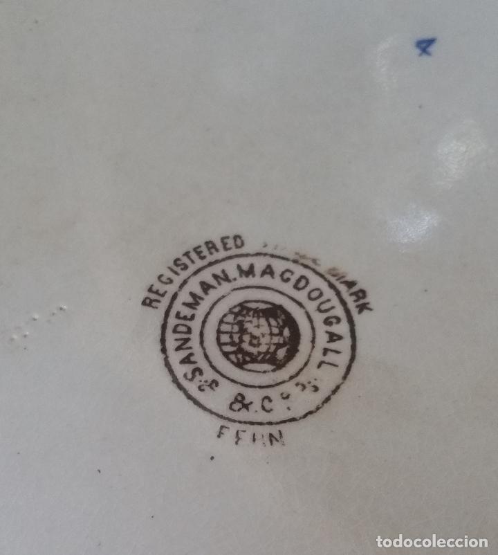 Antigüedades: PRECIOSA Y ANTIGUA FUENTE/BANDEJA DE SANDEMAN DE SAN JUAN DE AZNALFARACHE S.XIX - Foto 5 - 137811222