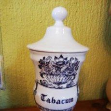 Antigüedades: ALBARELO O TARRO DE FARMACIA TABACUM. Lote 137820538