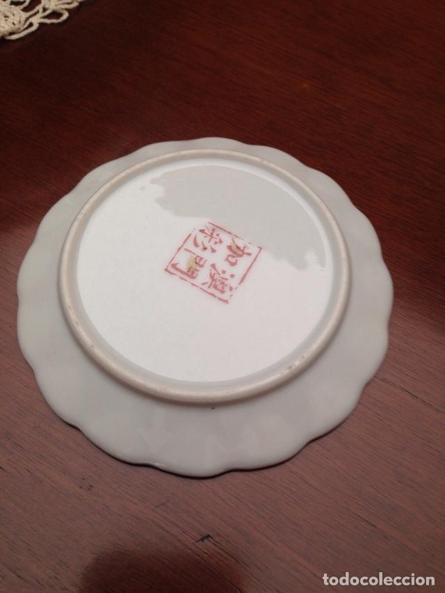Antigüedades: Platito japonés firmado - Foto 2 - 137848090