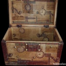 Antigüedades: CAJA-BAÚL DECORADA AL ESTILO ANTIGUO, ÚNICA, .. Lote 137871798