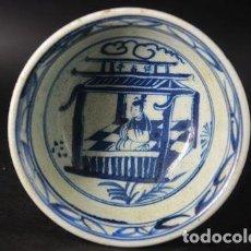 Antigüedades: CHINA , ANTIGUO CUENCO DE PORCELANA DINASTIA MING, GRAN CALIDAD, FLOR DE LOTO. Lote 137877058