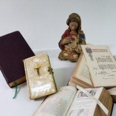 Antigüedades: LOTE DE 4 MISALES MUY ANTIGUOS , ALGUNO EN LATIN. Lote 137878402