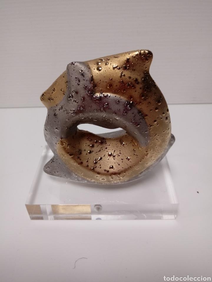 Antigüedades: Figura porcelana de horoscopo piscis BONETT - Foto 2 - 137885001
