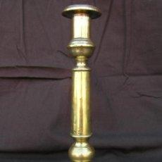 Antiques - CANDELERO BRONCE-LATÓN. S. XVIII. 24,5 cm. - 137888994