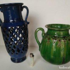 Antigüedades: LOTE DE 2 PIEZAS DE CERÁMICA ARTESANA DE ÚBEDA. Lote 137889262