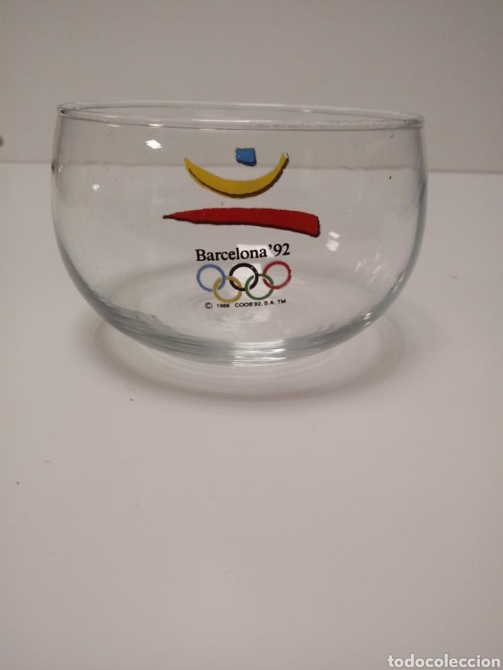 Antigüedades: Bol de cristal fino juegos olimpicos 92 - Foto 2 - 137890062