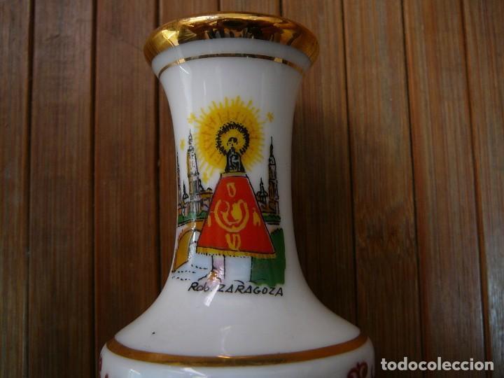 Antigüedades: Jarrita recuerdo de Zaragoza Virgen del Pilar - Foto 2 - 137892858