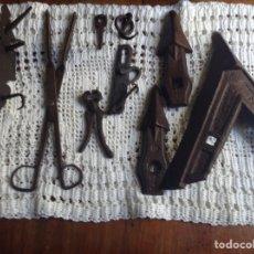 Antigüedades: UTENSILIOS HIERRO FORJADO. Lote 137898266