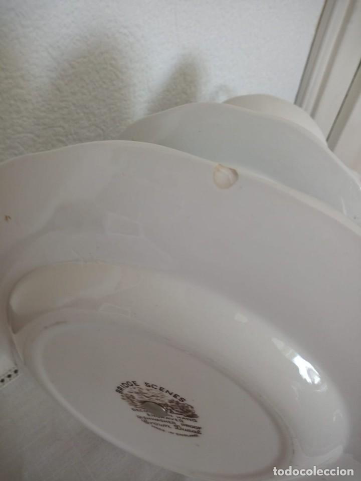 Antigüedades: Antiguo frutero de ceramica,crown ducal, bridge scenes ,made in england. 3 pisos - Foto 4 - 137902066