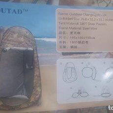 Antigüedades: CASETA PORTÁTIL PARA OBSERVACIÓN DE LA NATURALEZA, FOTOGRAFIA, CAZA, VESTIDOR, DUCHA, ETC. Lote 137908258