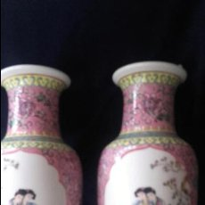 Antigüedades: PAREJA JARRONES PORCELANA CHINA. Lote 137926950