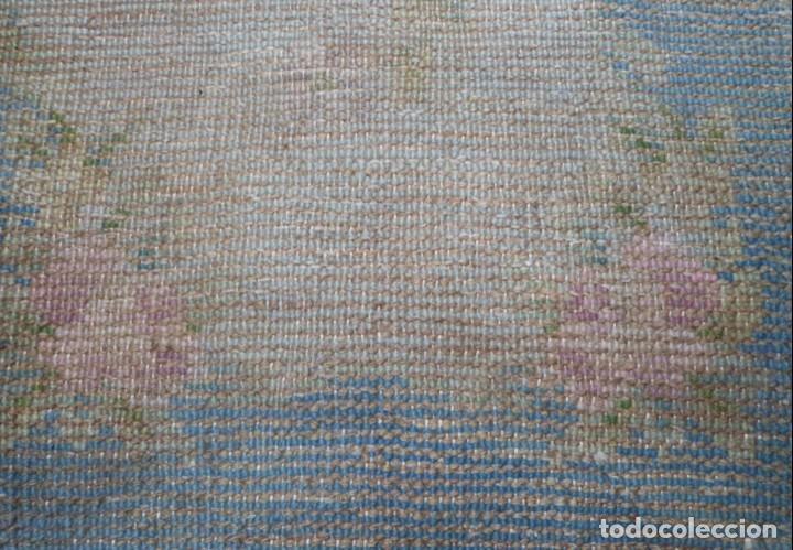Antigüedades: ALFOMBRA DE NUDO DE DORMITORIO - Foto 2 - 137936682