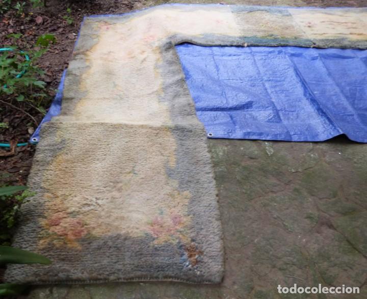 Antigüedades: ALFOMBRA DE NUDO DE DORMITORIO - Foto 4 - 137936682
