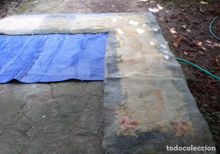 Antigüedades: ALFOMBRA DE NUDO DE DORMITORIO - Foto 5 - 137936682