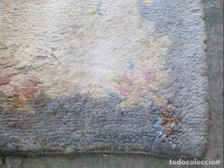 Antigüedades: ALFOMBRA DE NUDO DE DORMITORIO - Foto 6 - 137936682