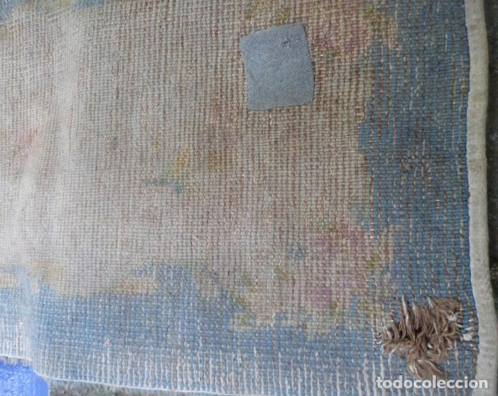 Antigüedades: ALFOMBRA DE NUDO DE DORMITORIO - Foto 7 - 137936682