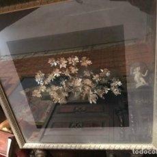 Antigüedades - magnificas corona para el pelo, plata china, enmarcada - 137939718