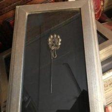 Antigüedades - magnifica aguja del pelo, plata china, enmarcada - 137939358