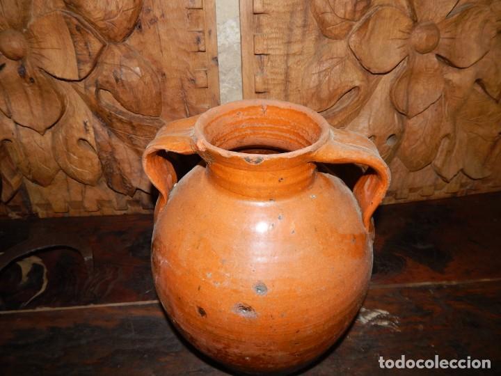 Antigüedades: antigua orza para aceite?... ceramica vidriada--- buenas condiciones - Foto 3 - 137962258