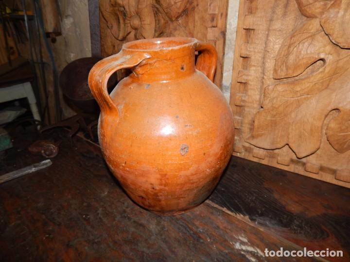 Antigüedades: antigua orza para aceite?... ceramica vidriada--- buenas condiciones - Foto 4 - 137962258