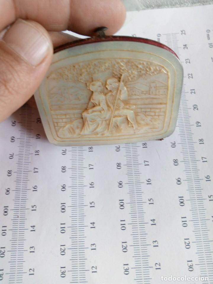 Antigüedades: MONEDERO DE NÁCAR,TALLADO,COSTUMBRISTA, escena galante SIGLO XIX - Foto 9 - 137973638