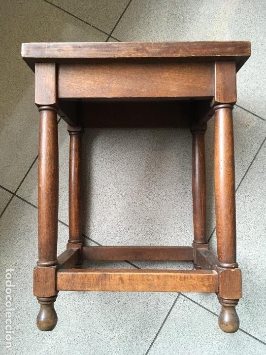 3 Mesitas Auxiliares (apilables) salón comedor dormitorio vintage  restauración decoración madera