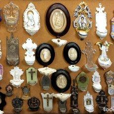Antigüedades: LOTE DE 44 BENDITERAS. DIVERSOS MATERIALES. ESPAÑA. XIX-XX. Lote 137977618