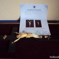 Antigüedades: (ANT-181066) CRISTO CRUCIFICADO - ESPAÑOL - MARFIL - SIGLO XVIII O XIX - CERTIFICADO. Lote 171699515