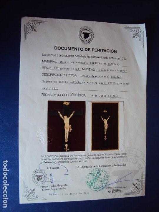 Antigüedades: (ANT-181066) CRISTO CRUCIFICADO - ESPAÑOL - MARFIL - SIGLO XVIII O XIX - CERTIFICADO - Foto 12 - 171699515